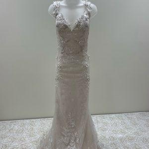 Mon Cheri Exclusive Wedding Dress w/Floral Details